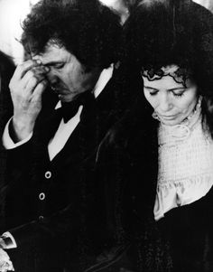 Johnny Cash and June Carter at the funeral of the mother of June in Hendersonville, Tennessee, in 1978. (AP Photo)