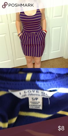 Fun dress with pockets from forever 21. From forever 21 cute dress practically new! Has pockets! Forever 21 Dresses Midi
