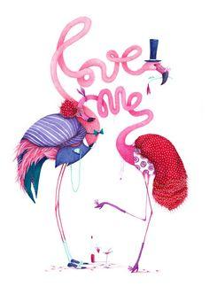 FLAMINGO LOVE - Madalina Andronic by comunykativo, via Flickr