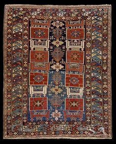 Karakashly, Caucaso nord-orientale, area di Kuba, fine del XIX secolo, lana su lana, 145 x 121 cm