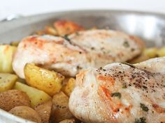 One Dish Chicken and Roasted Potatoes
