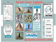 Lapbook%20Layout Ancient Civilization Unit = Ancient Greece + Ancient Rome