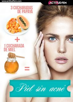 3 cucharadas de papaya + 1 cucharada de miel: Mascarilla anti acné. Beauty Stuff, Beauty Care, Beauty Makeup Tips, Beauty Products, Beauty Secrets, Natural Beauty Tips, Beauty Skin, Beauty Hacks, Acne Cure