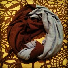 Infinity scarf from old t shirts...good way to use shirts you don't want to get ride of but never wear