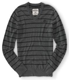 A87 Striped V-Neck Sweater i think this is what im getting my boyfriendddd <3