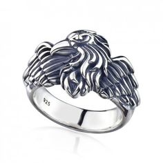 Click in the photo to see the product:Power of Egle Sterling Silver Mens Ring