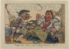 """""""Jack Hove Down with the Grog Blossom Fever"""" by:Thomas Tegg;1811. National Maritime Museum, Greenwich, London"""