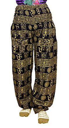 Krishna Mart Cotton Om Print Boho Gypsy Trousers Pants Lounge Wear Krishna Mart India http://www.amazon.com/dp/B00T6C7DR6/ref=cm_sw_r_pi_dp_SOwAvb1EGCN03