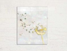 Dandelion Wall Art Yellow Gray Wall Art by BeachHouseGallery, $11.00