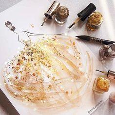 Dream fairy in Gold. Nail Polish