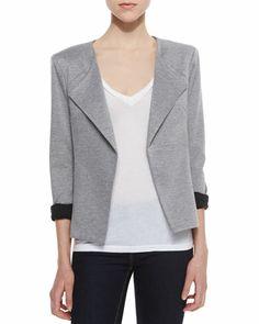 Crosby Heathered Knit Blazer by Amanda Uprichard at Neiman Marcus.