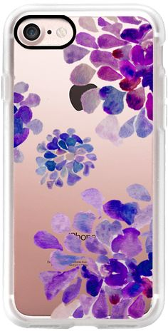 Casetify iPhone 7 Classic Grip Case - purple flowers by Marianna #Casetify