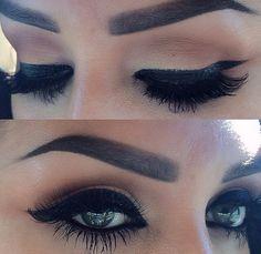 Beautiful BOLD eye makeup look.. dramatic lashes.