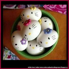 Dollar Store Crafter: Hello Kitty Easter Eggs