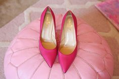 Pretty in pink - Kate Spade pumps.
