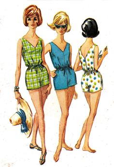 1960s Vintage Bathing Suit Sewing Pattern by allthepreciousthings, $30.00