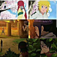 Kushina in love with a Uzumaki(Minato) /Hinata in love with a Uzumaki(Naruto) /Sarada in love with a Uzumaki(Boruto). Naruto Uzumaki Shippuden, Naruto Kakashi, Anime Naruto, Sarada E Boruto, Naruto Clans, Anime Ai, Naruhina, Naruto Comic, Naruto Art