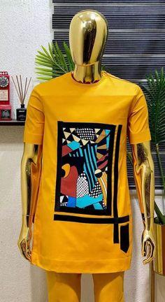 Latest African Men Fashion, African Wear Styles For Men, African Dresses Men, African Clothing For Men, African Fashion Designs For Men, Male Fashion, Native Wears, Kaftan Men, Cool Shirts