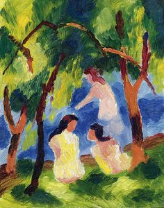 Girls Bathing  August Macke