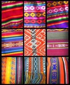 Peruvian Fabric. I saw so much of this in Peru but my luggage was so full already!  Regretting it now!