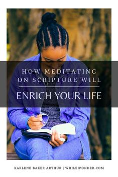 Find out how meditating on Scripture can enrich your life. Here is a quick way to include meditation in your daily devotion time. God's Word and meditation. Bible Verse Memorization, Scripture Verses, Bible Quotes, Christian Devotions, Christian Life, Christian Living, Healing Heart Quotes, Spiritual Disciplines, Healing Scriptures