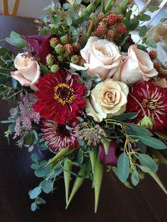 berries, texture and sahara roses...a studio favorite.