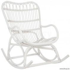 """J-Line Rotan schommelstoel mat wit <span style=""""font-size: 0.01pt;"""">Jline-by-Jolipa-61391-fauteuil-a-bascule-en-rotin</span>"""
