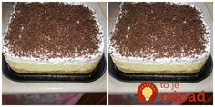 """Luxusný dezert celkom na studeno. Je výborná a na jej prípravu netreba zapínať rúru a dokonca ani sporák. Je to fantastická pochúťka, u nás doma jej nehovoríme inak ako """"Nebeská torta""""! Slovak Recipes, No Bake Cookies, Sweet And Salty, Sweet Desserts, Tiramisu, Cake Recipes, Cheesecake, Deserts, Food And Drink"""