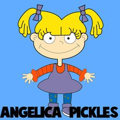 How to Draw Angelica Pickles from Rugrats with Step by Step Drawing Lesson