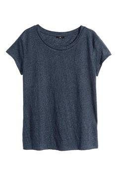 Camiseta de lino: Camiseta en punto de lino.
