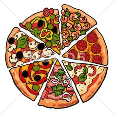 Set of various pizza pieces isolated on white background Stock Illustration . - Mexican Food Vectors - Set of various pizza pieces isolated on white background Stock Illustration , - Pizza Meme, Pizza Art, Love Pizza, Geek Wallpaper, Pizza Kunst, Griffonnages Kawaii, Pizza Tattoo, Piece Of Pizza, Random Stuff
