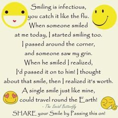 Image result for quote smile infectious