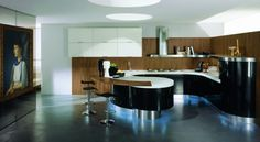 Contemporary Rounded Kitchen - Domina By Stemik Living