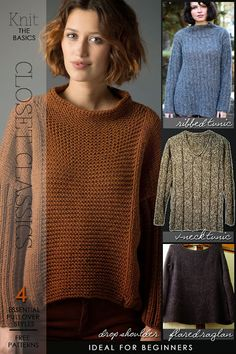 Knit the basics - cardigans and tunics patterns ideal for beginners and links to tutorials and basic stitches - DiaryofaCreativeFanatic