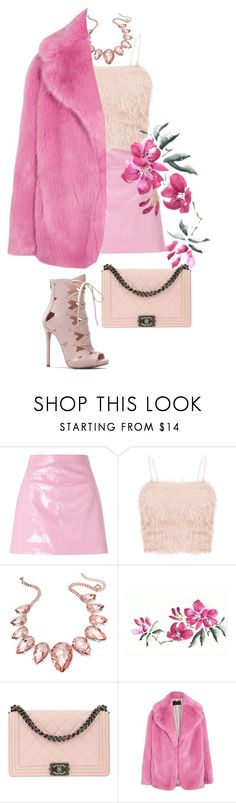 """Pink  New Year"" by melisafash on Polyvore featuring Miss Selfridge, Thalia Sodi, Chanel and J.Crew"