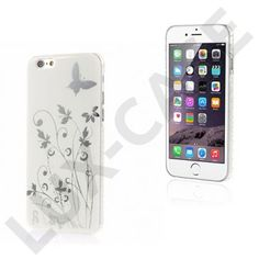 Butterflies (Hvid) iPhone 6 Cover