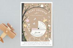 Fairytale Stroll Baby Shower Invitations