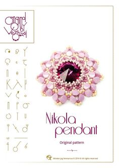 pendant tutorial / pattern Nikola pendant...PDF by beadsbyvezsuzsi, $13.00