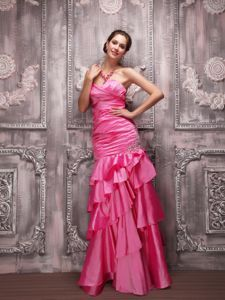 Hot Pink Column Beading Mother of The Bride Outfits in Germantown