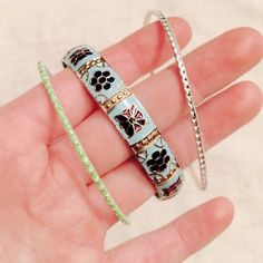 NWOTFREE PEOPLE Indian Enamel Bangle Set OS Worn a couple of times. In excellent condition.  Not Free People. Free People Jewelry Bracelets