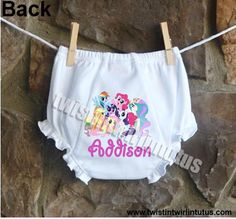 Adorable,personalized, ruffledbloomers to match your birthday girl