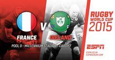 França vs Irlanda #RWC2015 #FRA vs #IRE #soutienslexv vs #ShoulderToShoulder