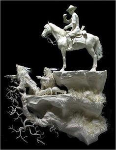 Paper Sculpture by Allen and Patty Eckman