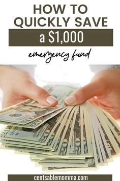 Before you can start on a big goal such as paying off debt or building a 3-6 month emergency fund, you'll want to start with a small emergency fund of $1,000 to get you through when life happens. Check out these tricks for how to quickly save a $1,000 emergency fund. #emergencyfund #financialgoals #babystep1 Earn More Money, Make Money Fast, Ways To Save Money, Money Tips, Money Saving Tips, Fast Cash, Making A Budget, Making Ideas, Easy Budget