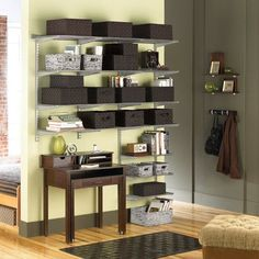 Elfa Loft Shelving from The Container Store