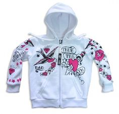 TRUE TILL DEATH -white-, Six Bunnies Kids, Hoodies at Switchblade Clothing