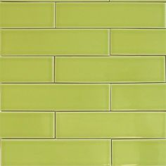 Ceramic Subway Tile For Kitchen Backsplash Or Bathroom In Green Color Pear