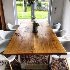 Details Zu Esstisch Küchentisch Mit Baumkante BRIAN 200x100cm Wildeiche  Massiv Woodlive NEU