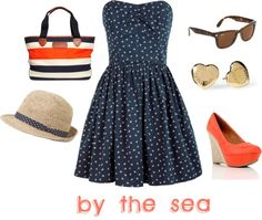"""""""by the sea"""" by stellastarstella on Polyvore"""
