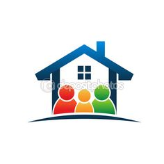 Family in house logo — Stock Vector #71816891